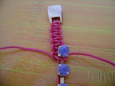 #DIY #PAP Pulseira de Strass e Macramê - com o nó quadrado (square knot) do macramé - no blogue PATCHFLOR