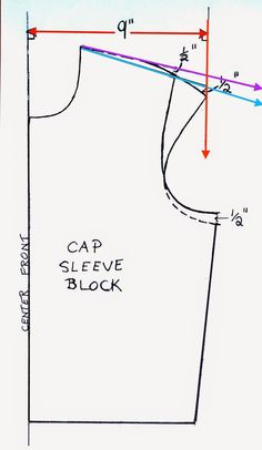 Artsybuildinglady: How To Make a Cap Sleeve T-Shirt Pattern