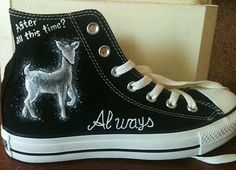 Hand Painted Chucks  Harry Potter by YourSoleExpression on Etsy, $80.00 These are cool! If I had money to I might get some