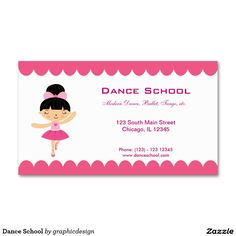 sold #Dance #School Business Card #ballerina #ballet Available in different products. Check more at www.zazzle.com/graphicdesign