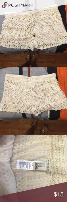 NWOT Forever 21 Crochet Shorts Brand new and never worn. Gorgeous crochet shorts. Perfect for the summer Forever 21 Shorts