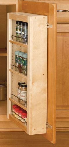 Rev-A-Shelf Series Door Unit Single Base Pantry with Hardware Natural Wood Base Cabinet Organizers Utility Racks Pantry Kitchen Pantry Organisers, Kitchen Organization Pantry, Kitchen Storage, Pantry Ideas, Bathroom Storage, Kitchen Ideas, Slide Out Shelves, Door Shelves, Tall Pantry Cabinet