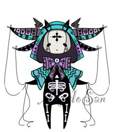 Pastel goth monster pet adoptable closed by AS-Adoptables on ...