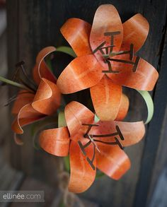 Download & print, cut out and assemble  paper tiger lily.  They also have other flowers