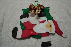 Guirlanda de Natal - Papai Noel deitado