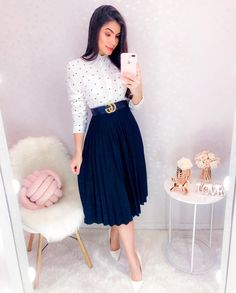 Modest Church Outfits, Modest Casual Outfits, Casual Skirt Outfits, Modest Dresses, Classy Outfits, Pretty Outfits, Pretty Dresses, Beautiful Outfits, Frock Fashion