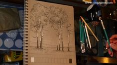 Sketchbook Diaries - Value scale lesson with Tim Gagnon - Improve your art skills.