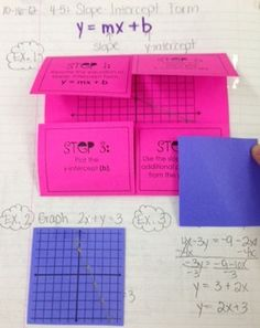 Slope- Intercept Form (Foldable) - Lisa Davenport - TeachersPayTeachers.com