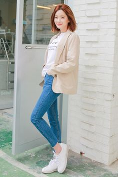 [STYLENANDA] HIGH-RISE JEANS