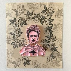 Frida Kahlo rubber stamp with a thorn necklace and hummingbird. From her self-portrait with a thorn necklace and hummingbird. ❋ Size of stamps: Frida 1.5 ; thorn necklace and hummingbird 2.25wide ❋ Hand carved rubber stamps, made to order. ❋ You can choose to have just the Frida stamp,