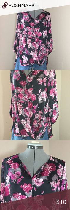 "🆕Listing: ALYX Purple Watercolor Floral Top ALYX Purple Watercolor Floral Top. In great condition. Size L measures: 17"" across shoulders, 23"" across chest, 28"" long, 18"" sleeve. Front of shirt is a cross over drape and the sleeve has cut outs. The material and care tag have been removed. Material has a silky feel, it's most likely 100% polyester. 305/25/032317 ALYX Tops Blouses"