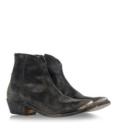 Shop for Ankle boots by Golden Goose at ShopStyle. Short Cowgirl Boots, Western Boots, Cowboy Boots, Western Cowboy, Grey Booties, Leather Booties, Ankle Booties, Shoe Boots, Shoe Bag