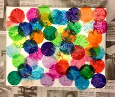 Bleeding Tissue Paper on a canvas