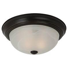 Sea Gull Lighting 75942 Windgate 2 Light Flush Mount Ceiling Fixture Heirloom Bronze Indoor Lighting Ceiling Fixtures Flush Mount
