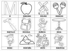 imágenes con la letra M para escolares