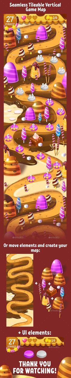 Choco Seamless Game Map