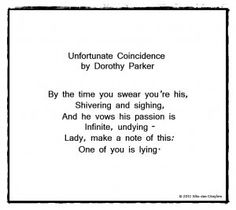 Dorothy Parker - poetry