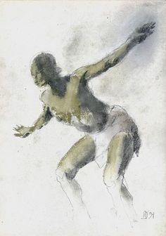 Marek Drtoździel, 20x20 cm, pastels on paper