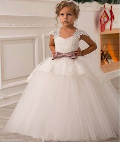 Cheap flower girl dresses, Buy Quality pageant dresses directly from China white flower girl dress Suppliers: 2016 White Flower Girls Dresses For Wedding Gowns Cap Sleeve Lace Sash Bow Girl Birthday Party Dress Zipper Tulle Pageant Dress Baby Pageant Dresses, Wedding Dresses For Girls, Girls Party Dress, Birthday Dresses, Baby Dress, Girls Dresses, Bridesmaid Dresses, Wedding Gowns, Party Dresses