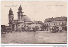 Satu Mare - Piata - antebelica Romania, Taj Mahal, Country, Rural Area, Country Music