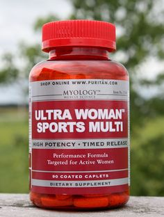 Myology Ultra Woman Sports Multi is a performance formula targeted for active women. No artificial color, no sugar, no preservatives, no gluten, no wheat, no yeast, and no fish. Sport Diet, Diet Supplements, Workout Rooms, No Equipment Workout, Sports Women, Health Tips, Workouts, Vitamins, Health Fitness