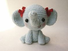 Adorable Crocheted Elephant Pattern #amigurumi