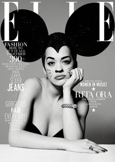 Rita Ora on cover of Elle Magazine May 2013