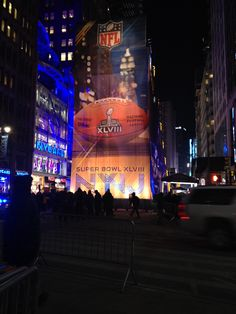 2014 Super Bowl Boulevard in NYC