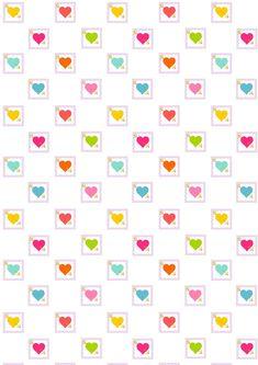 Free Digital Heart Scrapbooking Paper