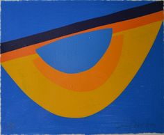 From White Court Art, Sir Terry Frost, Yellow and Blue for Bowjey Screenprint and woodcut, 13 × 15 in Sonia Delaunay, Post Painterly Abstraction, Abstract Art, Nadir Afonso, Hard Edge Painting, Artist Biography, Op Art, Pretty Pictures, Frost