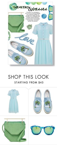 """sneakers&dresses"" by the-amj ❤ liked on Polyvore featuring Joanie, Joshua's, M2Malletier and Wildfox"