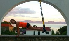 #TRX planking by sunset in Croatia. Thank you to @michaelakarbanova for sharing your photo with us! #Fitfam #fitspo
