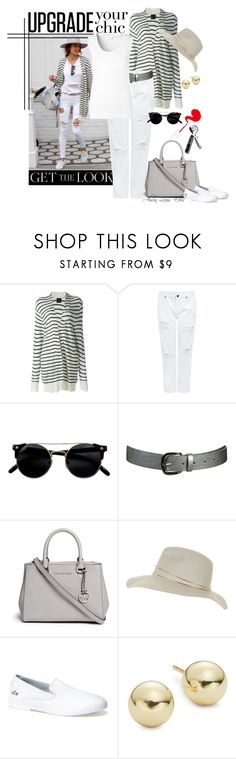 """""""Get the Look - Summer Whites"""" by alison-louis-ellis ❤ liked on Polyvore featuring RtA, Edit, Wet Seal, Michael Kors, Topshop, Lacoste, Lord & Taylor and ESCADA"""