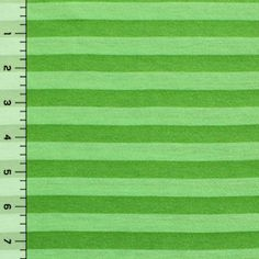 (low contrast) Spring Green Tonal  Stripe Cotton Jersey Knit Fabric