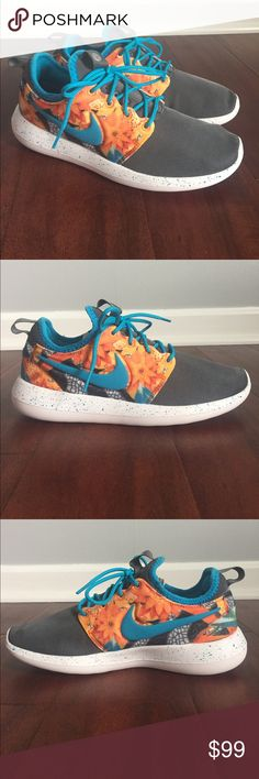 886a74315d5 Rare Nike ID Roshe Custom Floral Brand new Nike ID completely custom!  Colors are beautiful