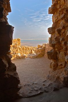 #Israel . #Masada with a view towards the Dead Sea. #travel