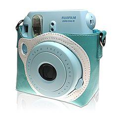 Takashi PU Leather Protect Case Bag for Fujifilm Instax Mini 8 Instant Camera Blue