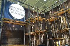 Korean design firm Dutch Lab have created coffee machines that look like steampunk skyscrapers