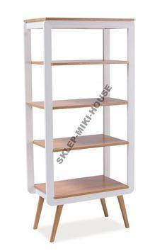 Regał drewniany szafka do salonu na książki MOSSO
