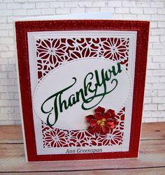 Ann Greenspan's Crafts: Holiday Thank You Card