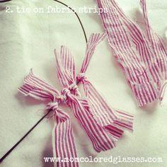 Rag-Tie Heart Wreath DIY