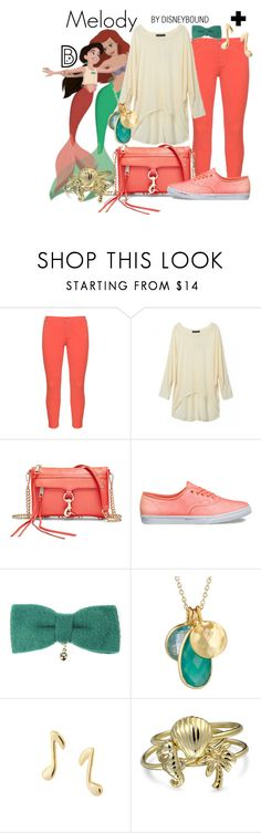 """""""Melody"""" by leslieakay ❤ liked on Polyvore featuring NYDJ, Jos, Rebecca Minkoff, Vans, Republic of Pigtails, Mminimal, Bling Jewelry, disney, disneybound and plussize"""