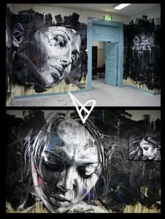 David Walker uses spray paint to create beautiful graffiti portraits. He works under self-imposed constraints such as no brushes and the results are quite stunning. David Walker, Walker Art, Graffiti Art, Best Graffiti, L'art Du Portrait, Portraits, Urban Street Art, Urban Art, Amazing Street Art