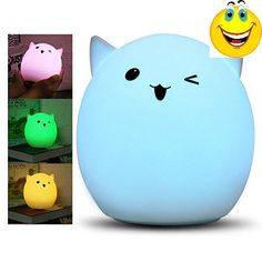 """Are kids afraid of a person to sleep at #night?Is it because the light is too bright to sleep?Ordinary light is too boring?""""Cute LED Night Light"""" with Lovely loo..."""