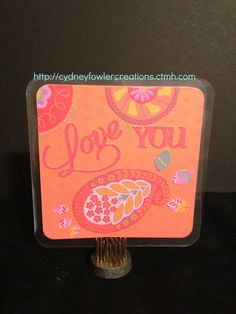 Card made using Dream Pop paper pack.  Available in May while supplies last.  $10 when you purchase $35 in CTMH products.  Visit my online store at http://cydneyfowlercreations.ctmh.com