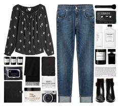 """""""Look at you kids with your vintage music."""" by pure-and-valuable ❤ liked on Polyvore featuring 7 For All Mankind, Velvet, Tod's, Byredo, NARS Cosmetics, Givenchy, philosophy, Fujifilm, e.l.f. and Ron Dorff"""