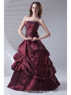 c20d3efbb62 Taffeta Strapless A-line Floor Length Sequins Prom Dress Sequin Prom Dresses