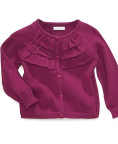 First Impressions Baby Sweater, Baby Girls Ruffle Cardigan - Kids Baby Girl (0-24 months) - Macy's