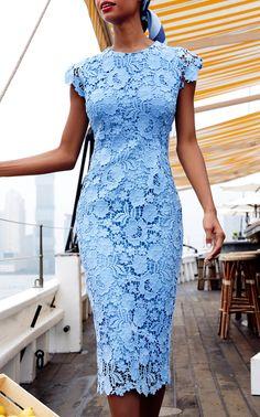 Get inspired and discover Lela Rose trunkshow! Shop the latest Lela Rose collection at Moda Operandi. Elegant Dresses, Sexy Dresses, Blue Dresses, Dress Outfits, Fashion Dresses, Short Sleeve Dresses, Formal Dresses, Midi Dresses, Formal Midi Dress