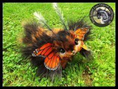 Woodsplitterlee ручной работы жизнь размера подвижная фантазия Монарх bunnyfly